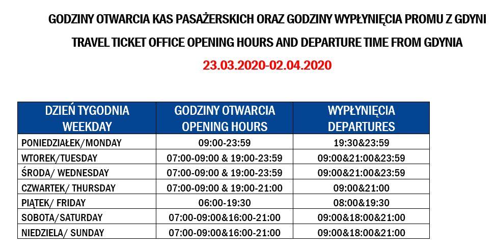 Nasze kasy pasażerskie zmieniają godziny otwarcia od 23 marca. https://t.co/XTDoah3qfD