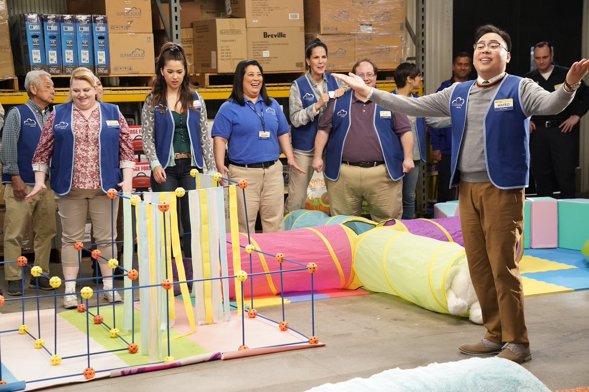 Mateo making sure everybody stays six feet away from him... All new #Superstore tonight at 8/7c on @nbc!