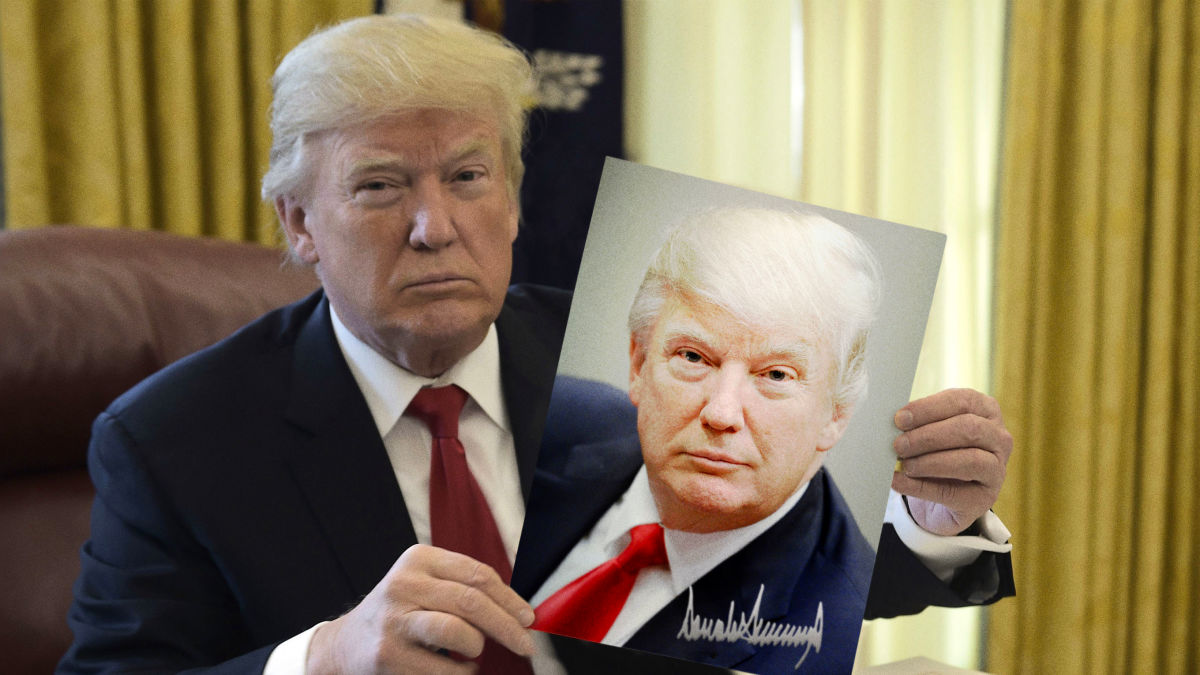 Trump Seeks To Stimulate Economy By Sending Rare Autographed Photo To Every American https://t.co/TUJRLA4uS6 https://t.co/STImgRr4Oj