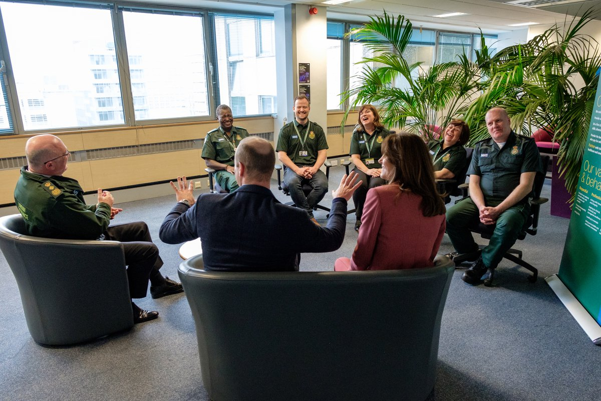 Catherine and I were proud to visit staff working at NHS 111, to pass on our personal thanks, along with those of my grandmother and father, to staff working around the clock to provide care and advice to those that need it most. — The Duke of Cambridge #NHSthankyou