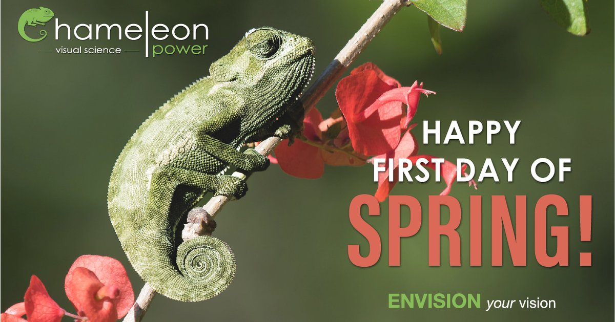 Happy First Day of Spring. #Chameleonpower #firstdayofspring #spring2020 #visualscience https://t.co/hft8dTXlkr