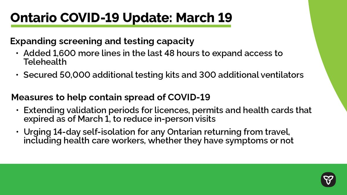test Twitter Media - We all have a role to play to reduce the spread of #COVID19ON, including #SocialDistancing. Some measures we are taking: expanding testing capacity and limiting in-person visits for health card renewals. https://t.co/F6fBcPANLP https://t.co/LqIygS8cyg
