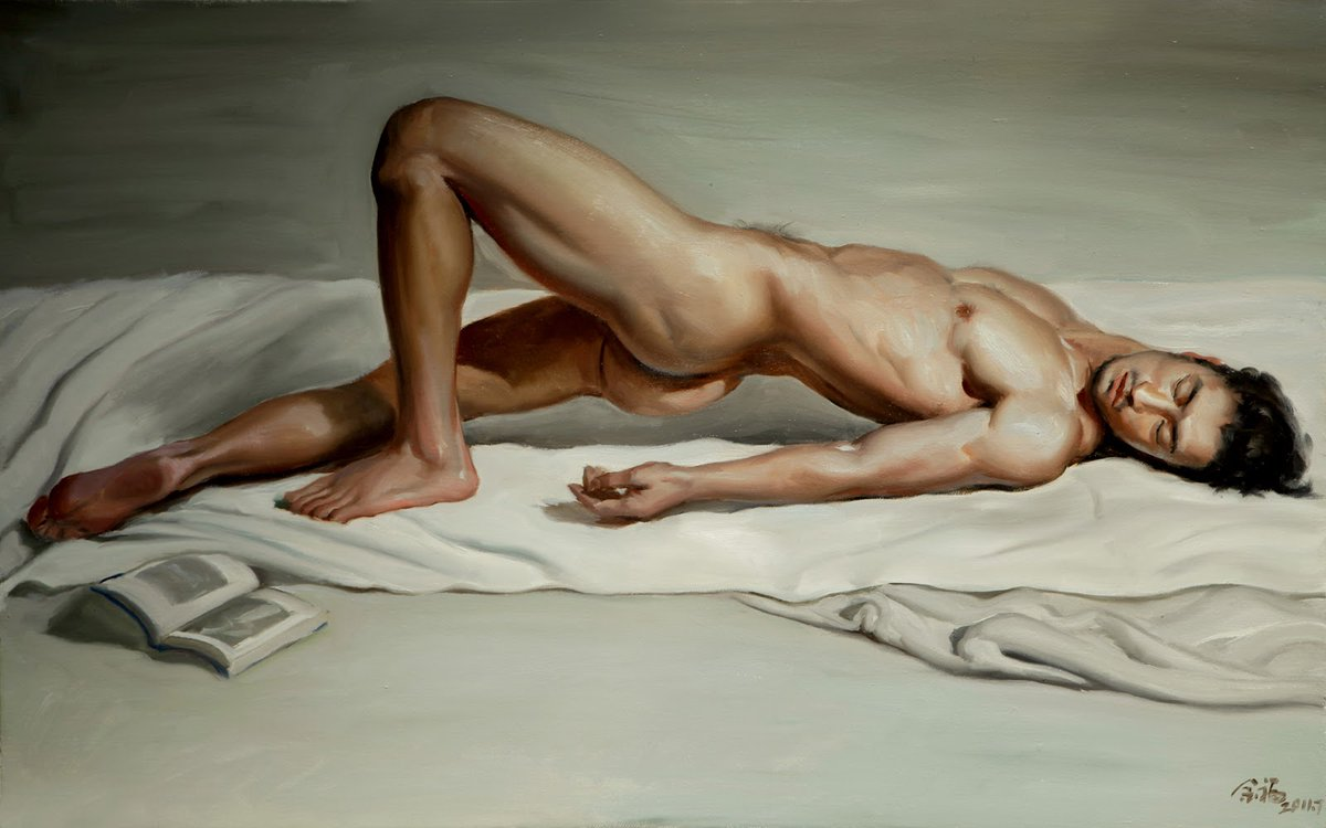 Dancer painting by nude male art
