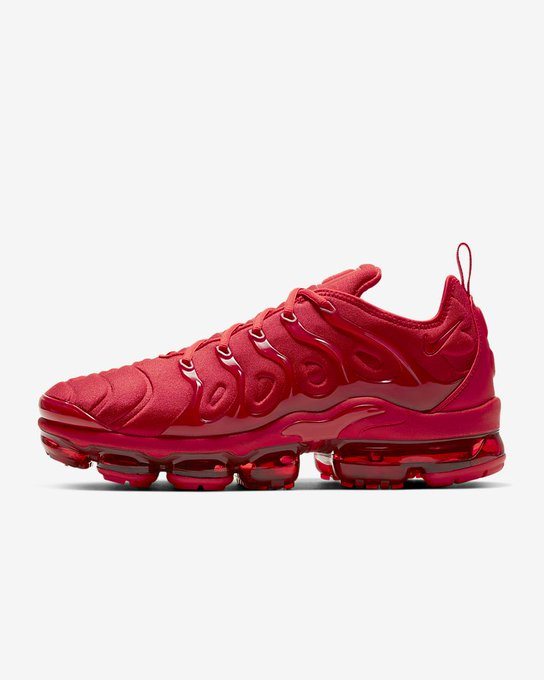 Ad: Nike Air VaporMax Plus 'Triple Red' on sale for $119.98 + FREE shipping, discount applied in cart => https://t.co/LWqpsRvCOa https://t.co/LBgq41kqW8