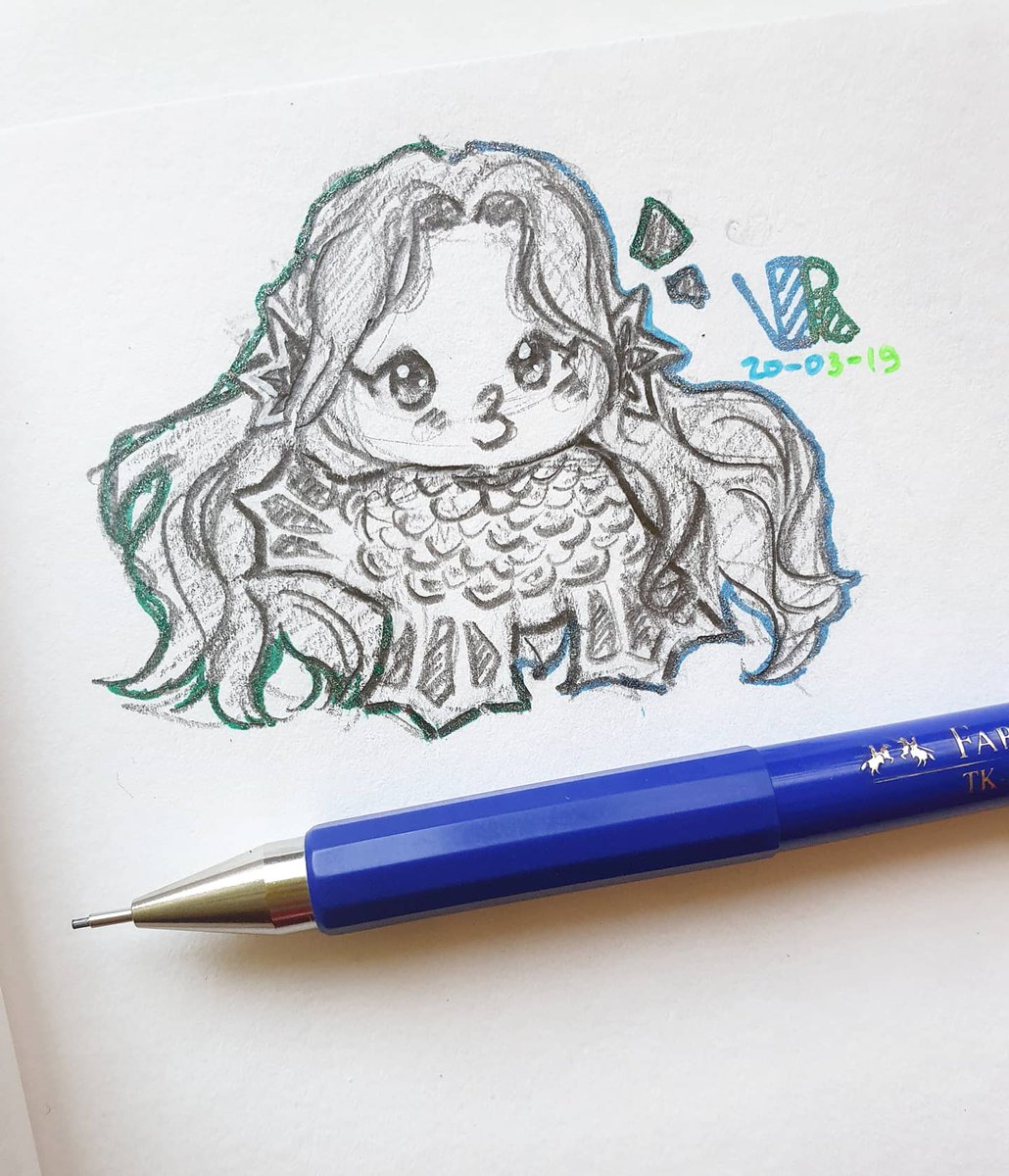 It's a Japanese mermaid called Amabie who comes out from the sea to predict good harvest or epidemics. But this lil Amabie just wants everyone to stay safe and healthy!! 。 。 #アニメ #anime #sketch #かわいい #すごい #kawaii #얼짱 #소녀 #예쁘다 #covid_19 #coronaviruspic.twitter.com/iq9WYDxPfY