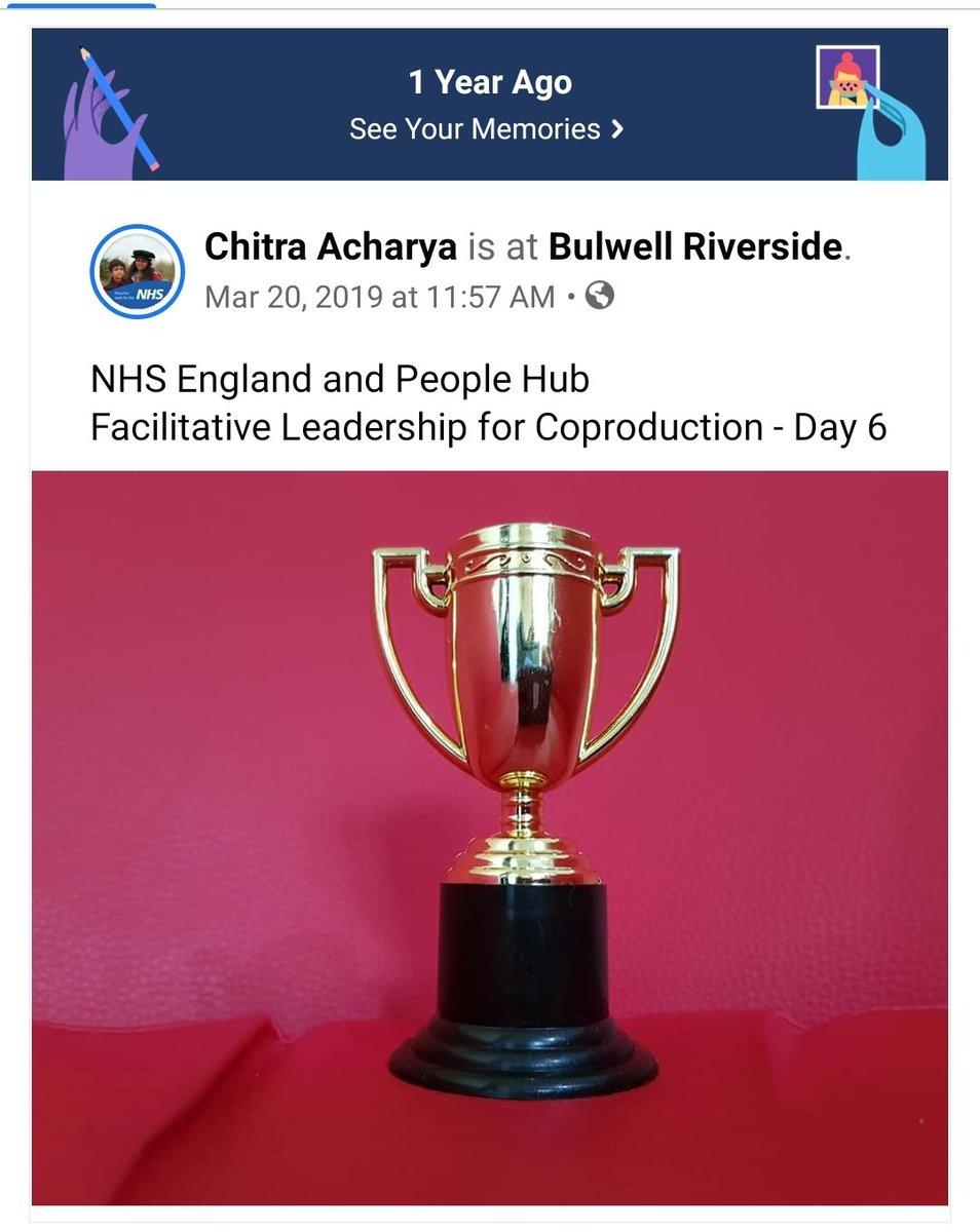 A year ago today 😊  @NHSEngland and @People_Hub  #Facilitative #Leadership for #Coproduction  @RitaKBAMD #StephCarson @colinroyle @jo_fitzgerald21 @RobynFChappell @wheelywood @NotWastedliving @neil_dunford   @NHSNottingham  @Notts_ICS  @careinMidNotts  @SouthNottsICP  @_HWNN https://t.co/FrIlAEOAsD