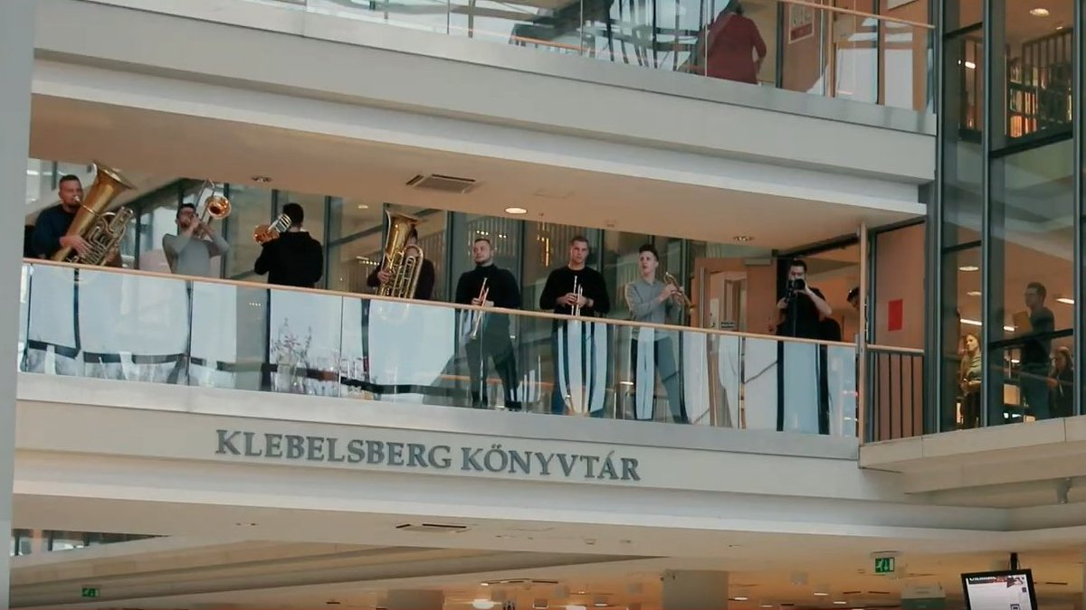 Throwback Friday to good old days, when students could study in libraries.  🔙 @LibrarySzeged   Watch the video to see what happens when students needed a break in our beloved Klebelsberg library and we decided to cheer them up🎼 ‼️    #SZTE #Klebelsberg