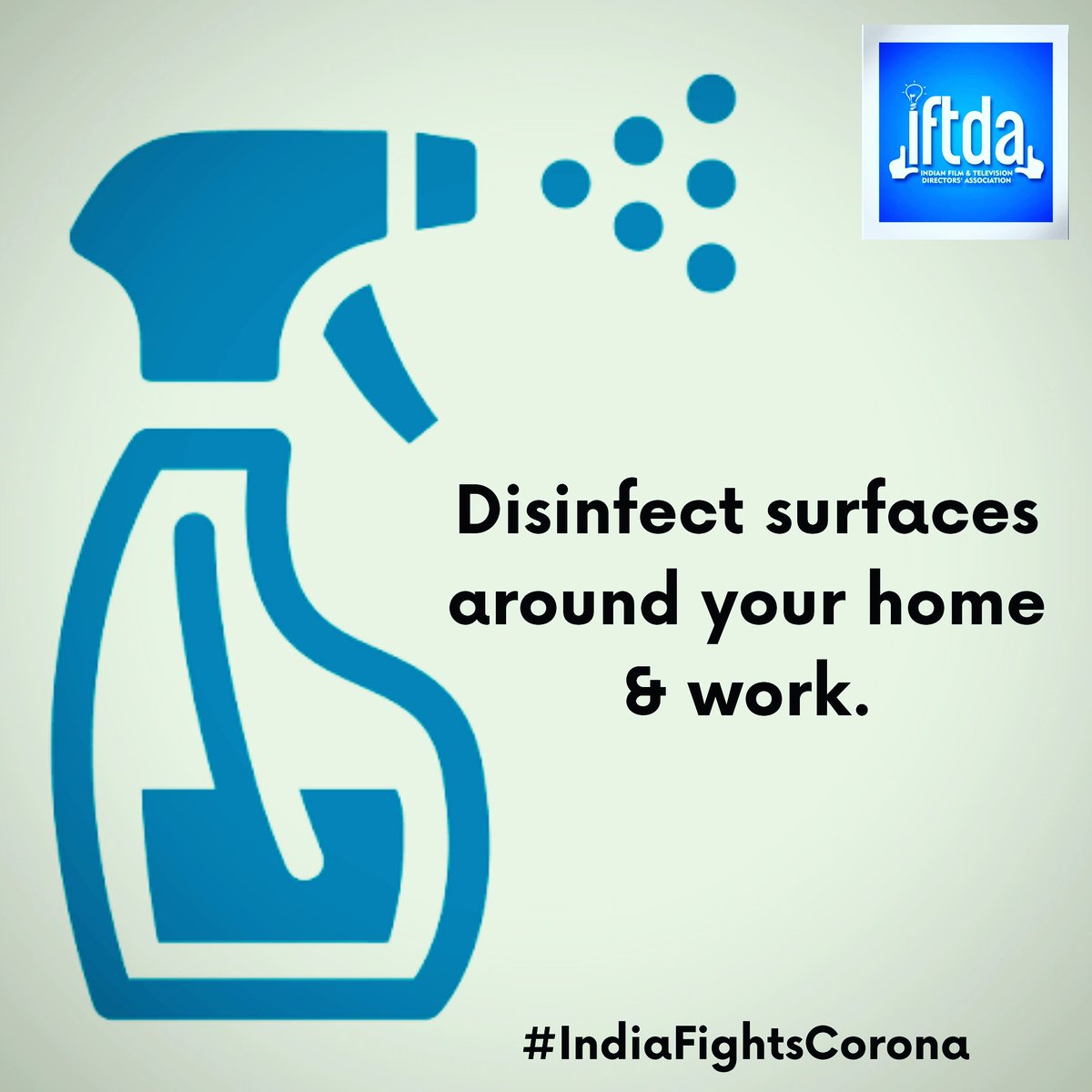 Disinfect surfaces around your home & work. #COVID2019 #IndiaFightsCorona #covidindia