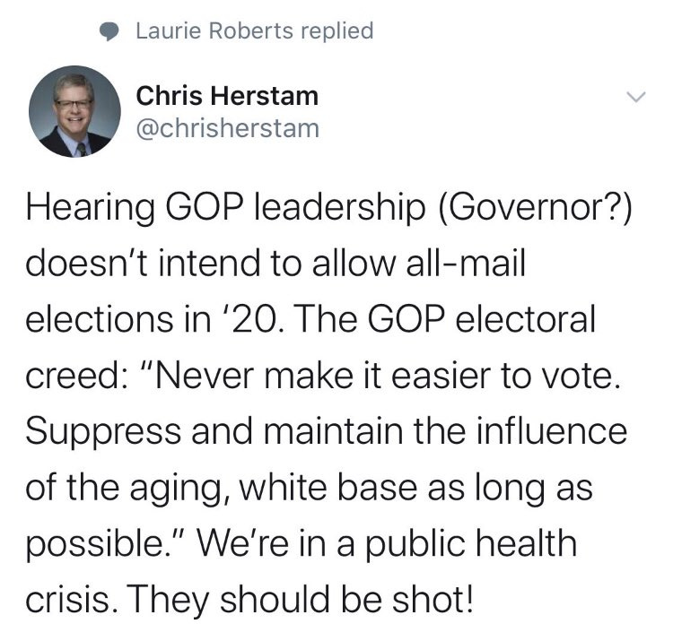 No apology yet from @chrisherstam for this irresponsible tweet.