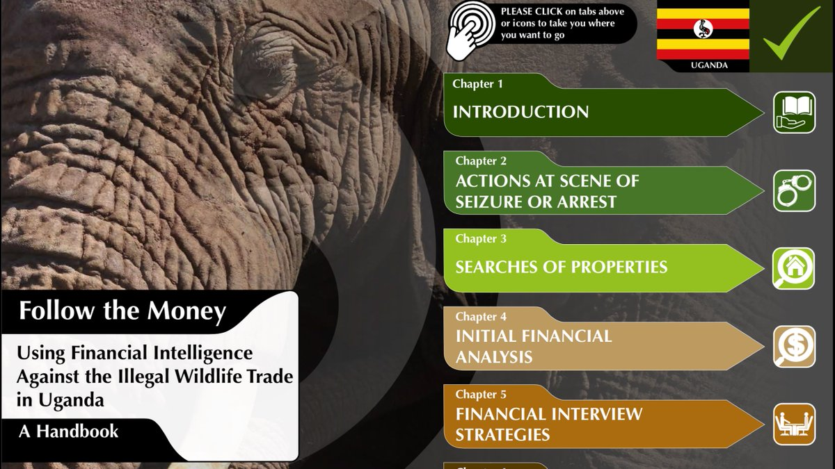 NEW #IWT RESOURCES:   Best practice for the financial investigation of #wildlifetrafficking 👇🏼   - Handbooks tailored to Kenya, Uganda, Tanzania, Malawi, Zambia and Mozambique - A 16-minute training video  Created with @EIA_News, funded by @Darwin_Defra: https://t.co/wbWFdCX9eu https://t.co/4Y7Z2fjivI