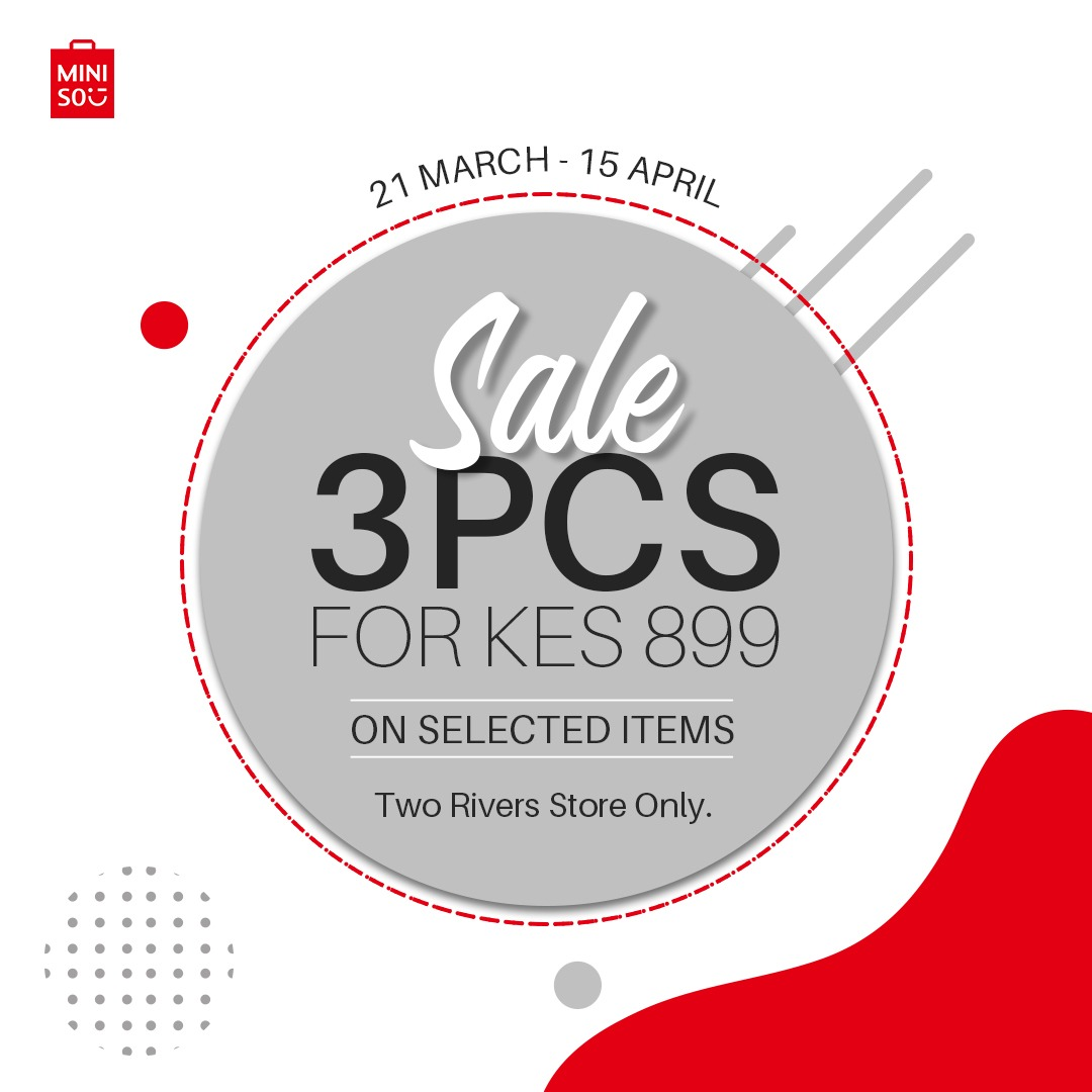 Sale going on only at #Miniso_Two_Rivers as the stock still lasts. #SALE #TWORIVERSBRANCH