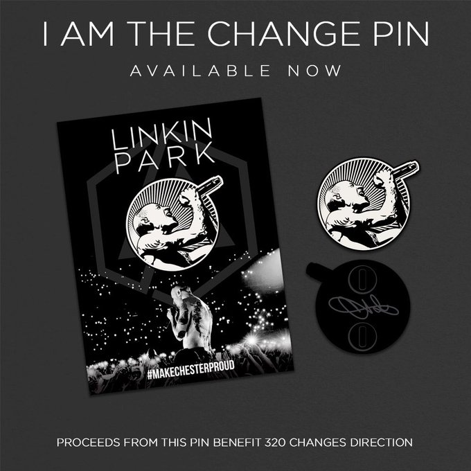 """'s Media: """"I Am The Change"""" pin available now. Proceeds will benefit 320 Changes Direction: https://t.co/YGsd"""