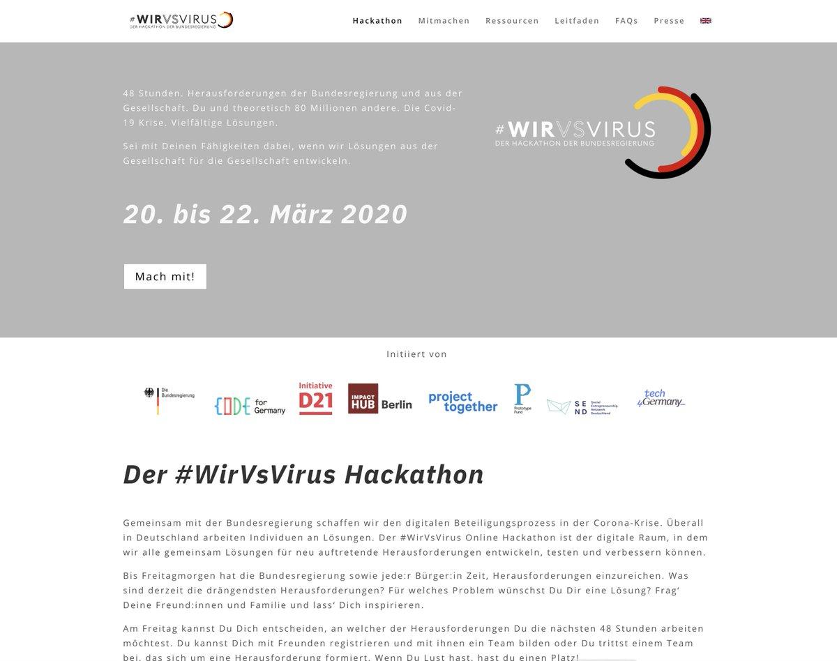 #WirvsVirus