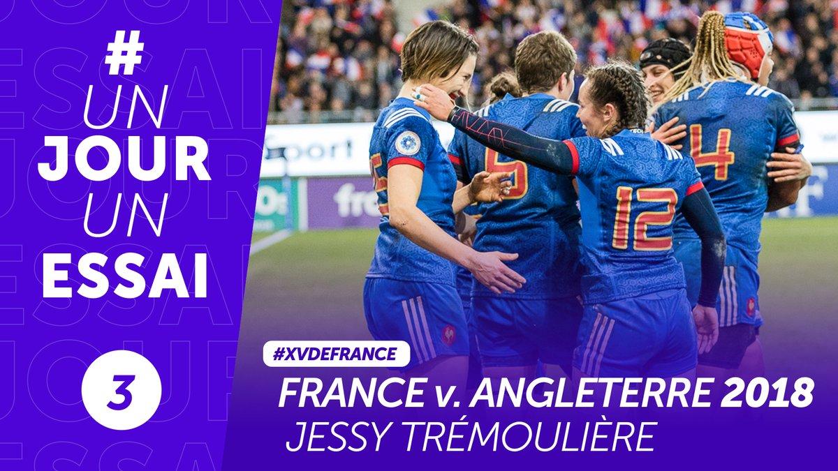 🎂 @JessTremouliere fête aujourdhui ses 28 ans ! À cette occasion, on vous propose de revoir son magnifique essai à Grenoble contre lAngleterre en 2018, qui permet aux Bleues de remporter le @Womens6Nations ! 😍 #XVdeFrance #NeFaisonsXV