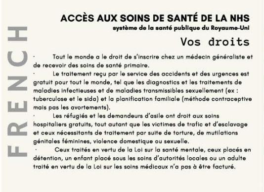 #PatientsNotPassports info in French