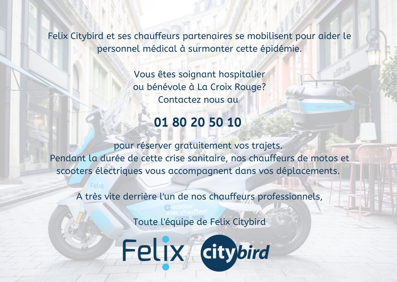 Felix-citybird #vtc #moto #taxi
