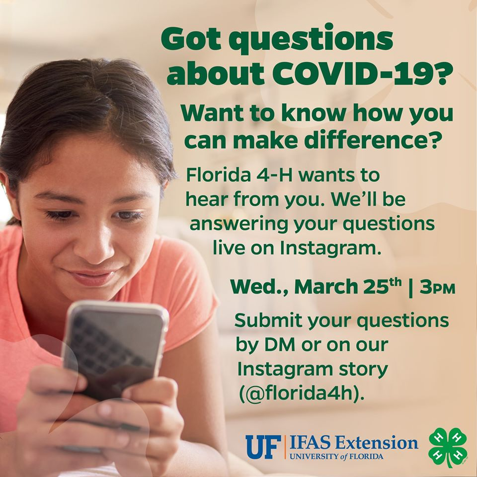 Share with your youth and encourage them to send questions and join us! @UF_IFAS @nplace01 @Florida4H