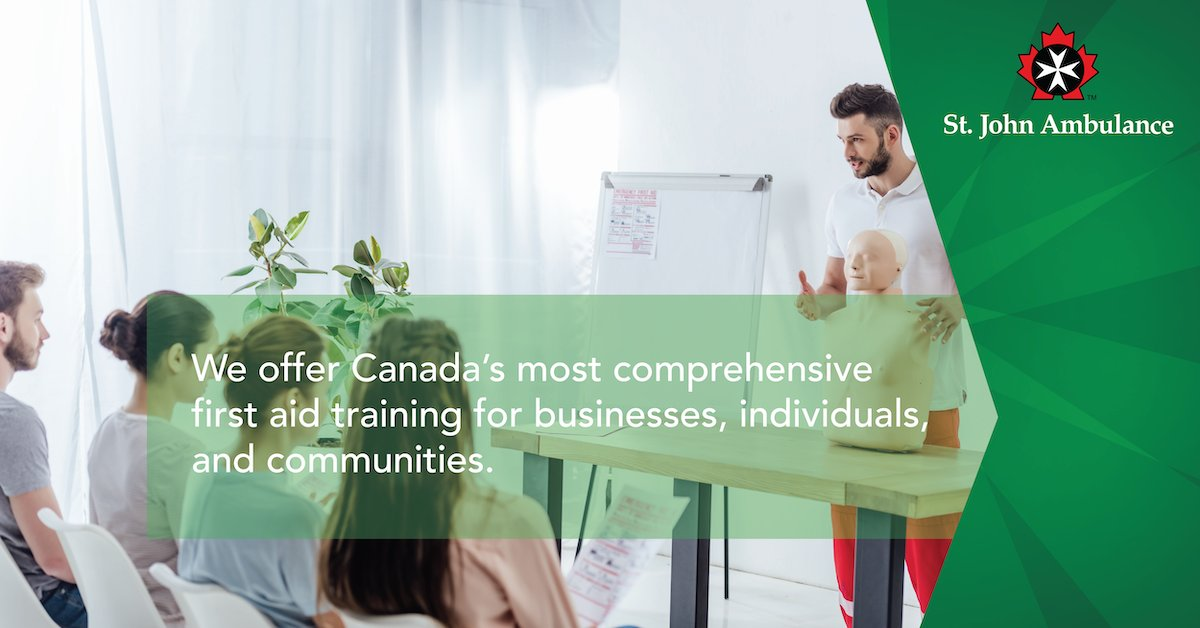 We offer Canada's most comprehensive, state-of-the-art first aid training for businesses, individuals, and communities. Find out more about our classes: https://www.sja.ca/English/Courses-and-Training/Pages/Course-Information.aspx… #firstaidtraining #firstaidcourse #corporatefirstaidpic.twitter.com/CThcWdPVnM