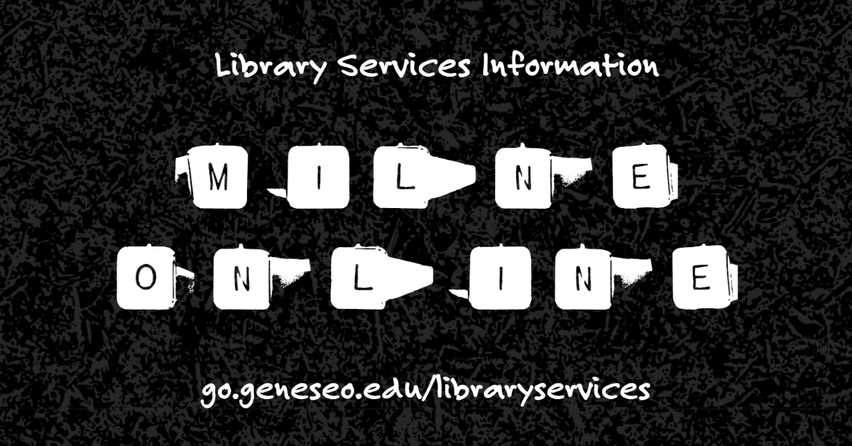 #geneseo please visit https://t.co/MsNDYXJhA4 for the the latest on #MilneLibrary services. We are here for you. https://t.co/5bG1PDKwwA