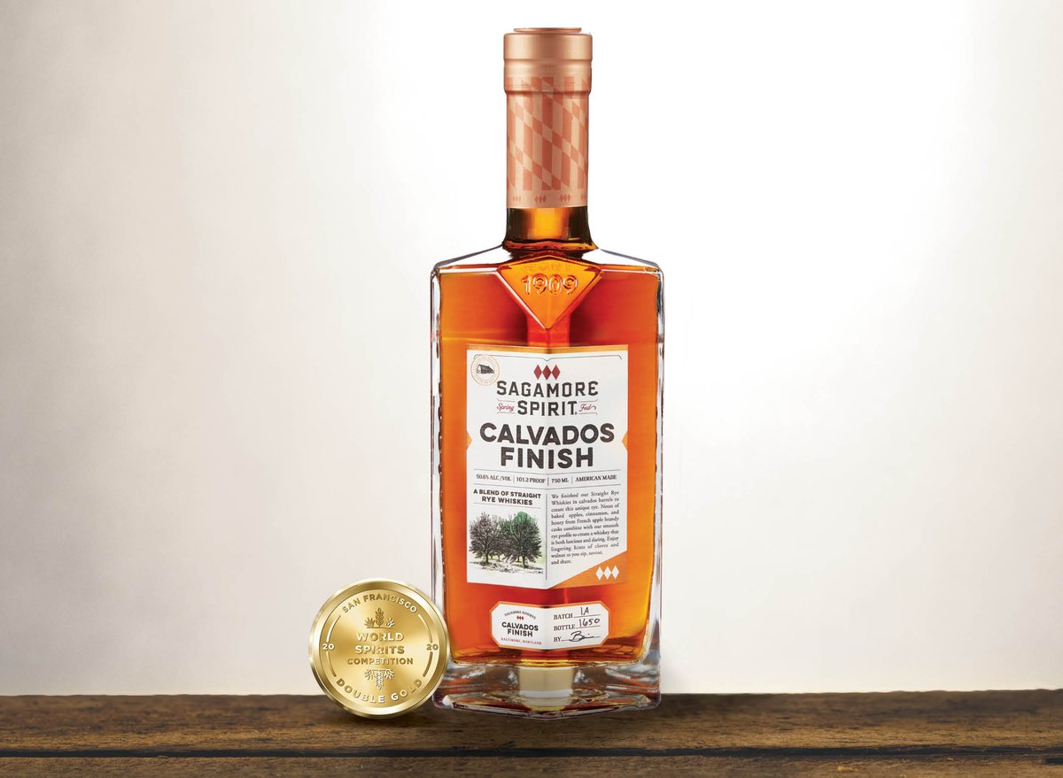 We can still fist pump six-feet away! Proud to announce that our newest release from our Sagamore Reserve series, Calvados Finish, received 🏅 🏅  from @SFWSpiritsComp Join us @ noon today as we celebrate on Instagram Story! Happy #FridayRyeDay 🥃 https://t.co/2ePcHfLCjs https://t.co/HaDBAFHVYj