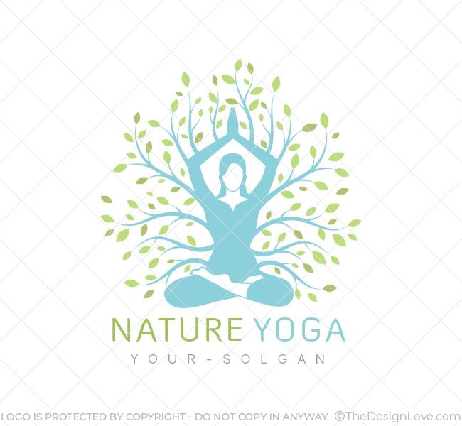 The Design Love On Twitter Nature Yoga Logo Business Card Template Branding For Yoga Classes Online Yoga Training Services And Similar Wellness Oriented Ventures Business Logo Branding Logoart Logodesign Designlove Logomaker