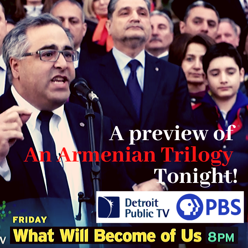 Tonight! March 20th starting at 8 pm EST! On DPTV PBS. We are proud to be in the program with a preview of The Armenian Trilogy film! @detroitpublictv #Armenian #Armenia #PBS #ArmenianGenocide https://t.co/SnXQ22YhKe
