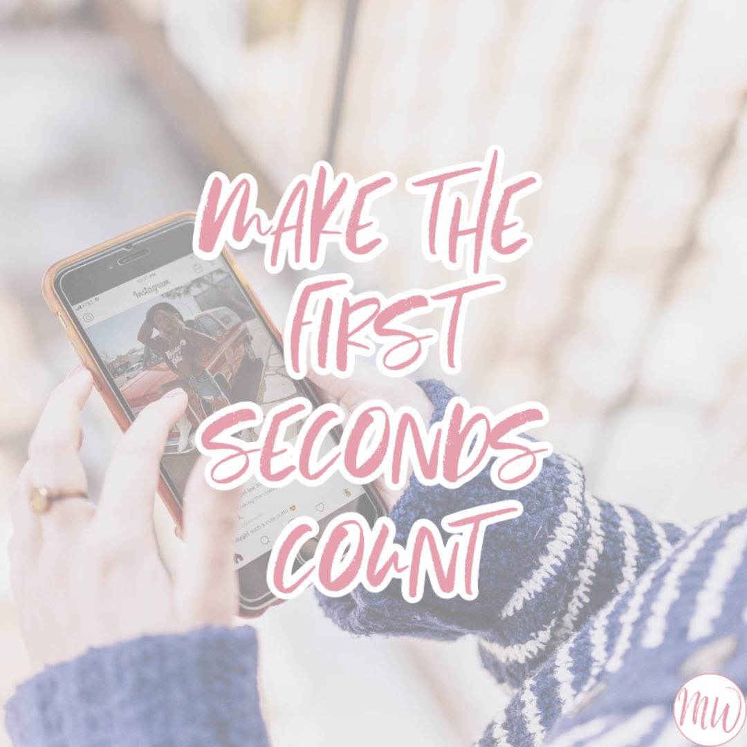 Instagram users quickly scroll through their feeds, make the first seconds of your videos count so that users will stop to watch Need a video editor for Instagram? Send me a message! #videoeditor #igtv #igtvedit #igtvediting #instagramvideo #instagramvideos #instavideopic.twitter.com/USg4d1bbmB