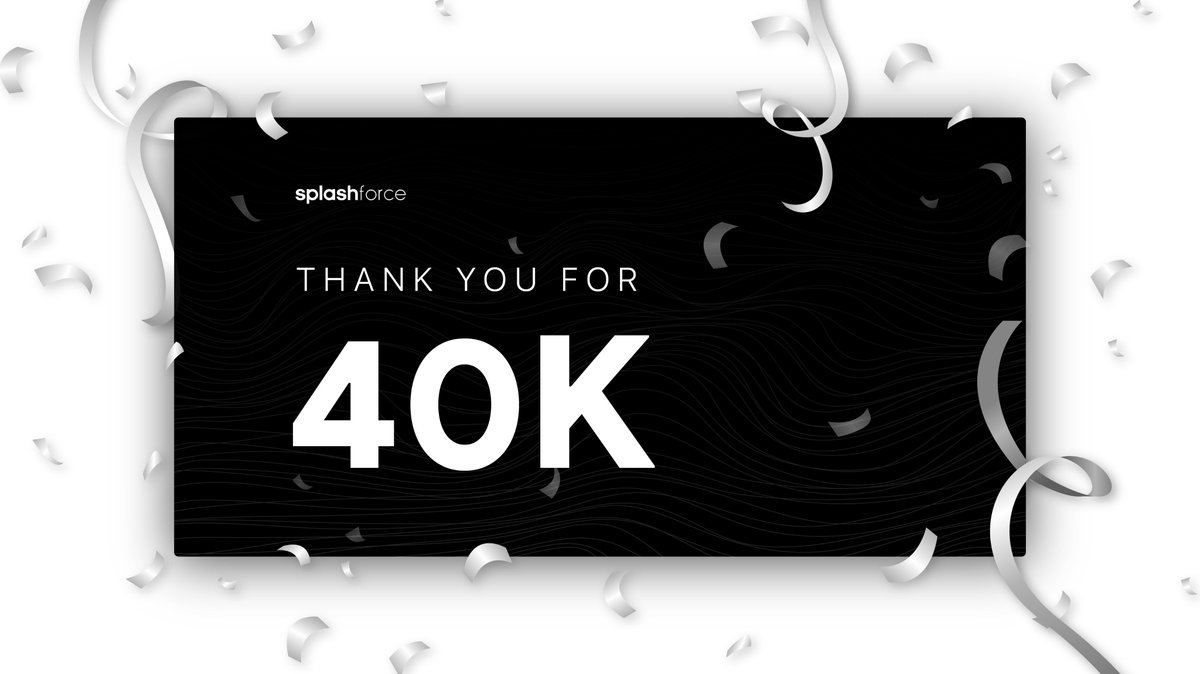 We've just reached a huge milestone & we are very thankful for all of our supporters. The past few months have been an amazing journey for the Splashforce team & our users. Thank you for 40k. 🥳  Let's giveaway 5 copies. 💙   Retweet & Reply to this tweet with '🌊' to enter. https://t.co/wXPgdhTpyR