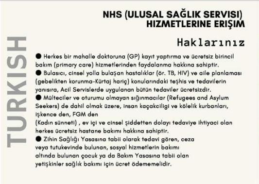 #PatientsNotPassports info in Turkish