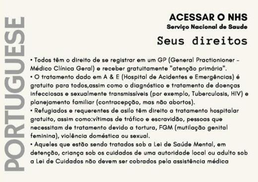 #PatientsNotPassports info in Portugese
