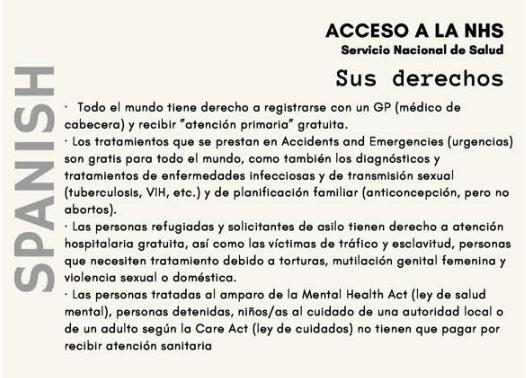 #PatientsNotPassports info in Spanish