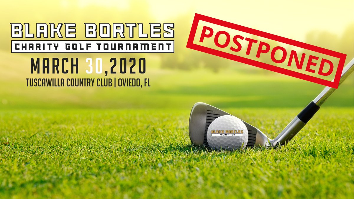 Out of an abundance of caution for our community, supporters and staff, the #BB5Foundation has made the decision to postpone our charity golf tournament previously set for Mon.  March 30th at Tuscawilla Country Club.   We will notify everyone of the new date once it has been set! https://t.co/3kgAj3kobK