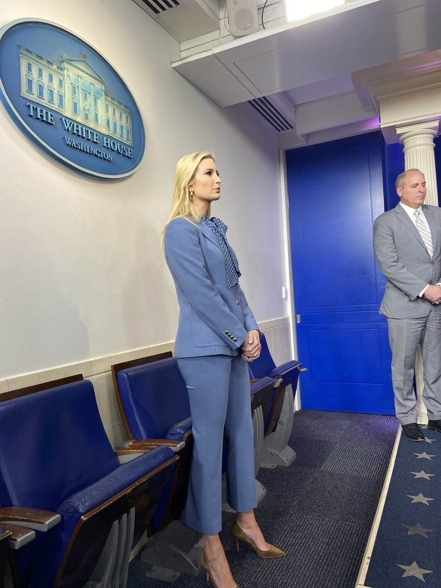 Ivanka Trump in the Briefing Room.