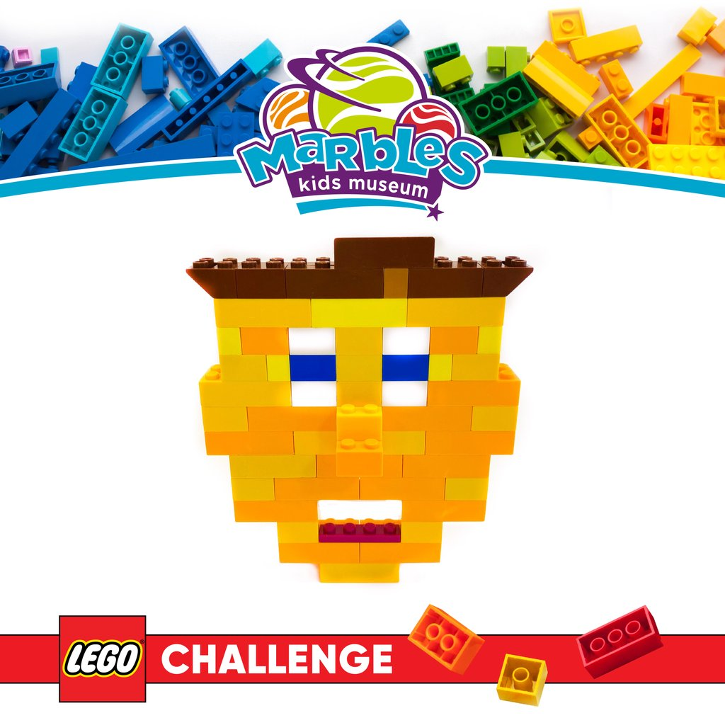 Did you know building play provides lessons in problem solving? Every Friday, Marbles will feature a weekly Lego challenge built by Marbles Team member, Scott. This week, build a selfie. Don't have enough brown bricks for hair? Get silly! Use green. #MarblesLegoChallenge https://t.co/GCtIq9ETK2