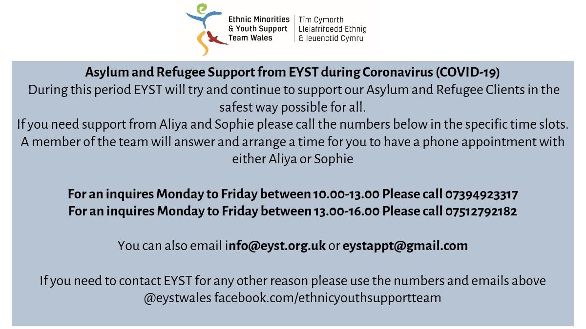 @SwanseaCVS @lina_wrcswansea @RefugeeWelsh @welshrefcouncil @swanseaCoS @WayneYare