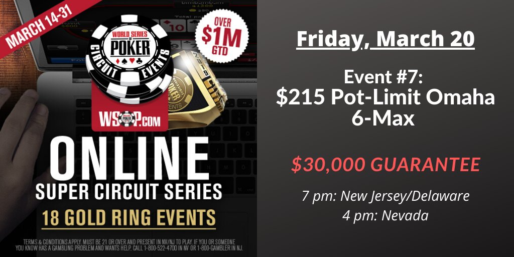 Today we play poker with four cards. wsop.com/promotions/