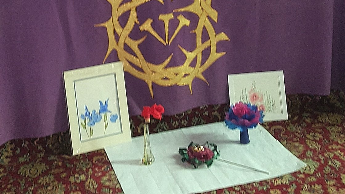 For Mother's Day Andrew Hemming is encouraging members of Christ Church Redhill to make flowers that can be displayed and left in the church for visitors to enjoy if they come in for prayer, solitude and remembrance.
