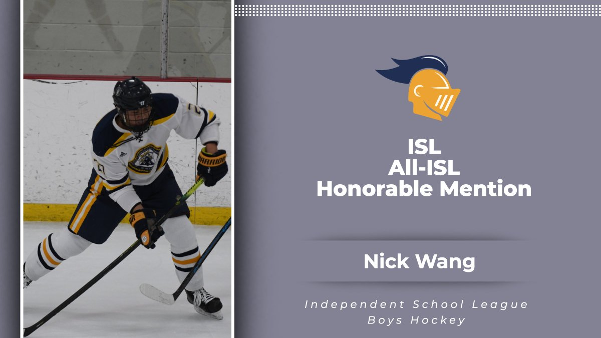Congratulations Nick Wang on being named All-ISL Honorable Mention! #RollKnights