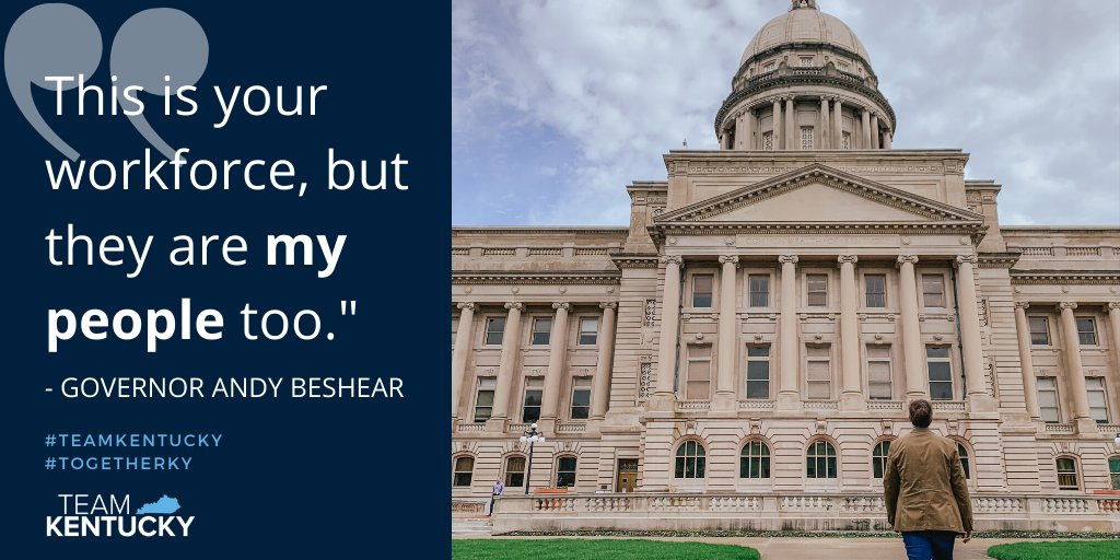 We are encouraging everyone who can work from home to work from home. As an employer, do your duty as a member of the Commonwealth to help keep Kentuckians safe from #COVID19. #TogetherKy #TeamKentucky https://t.co/awrhQXxtrw