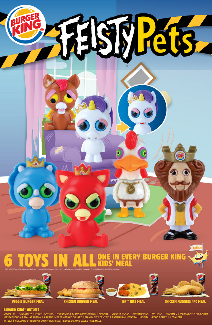 Icontactlanka On Twitter Introducing Our New King Jr Toys The Feisty Pets 6 Toys In All One In Every Burger King Kids Meal Lka Icontactlanka Https T Co 6bfsi2yps1