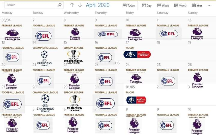 Premier league EFL and cup games example to finish the season @SkySports @premierleague @EFL @campionsleague @EuropaLeague