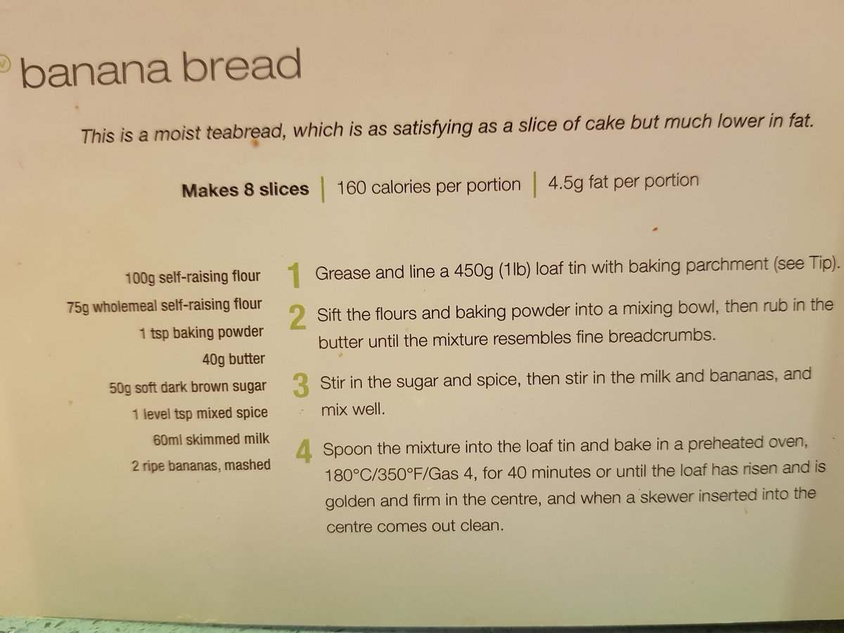 @cmdrew81 Banana bread. I have a lovely low fat recipe (excuse the cake splats!). The riper the better.