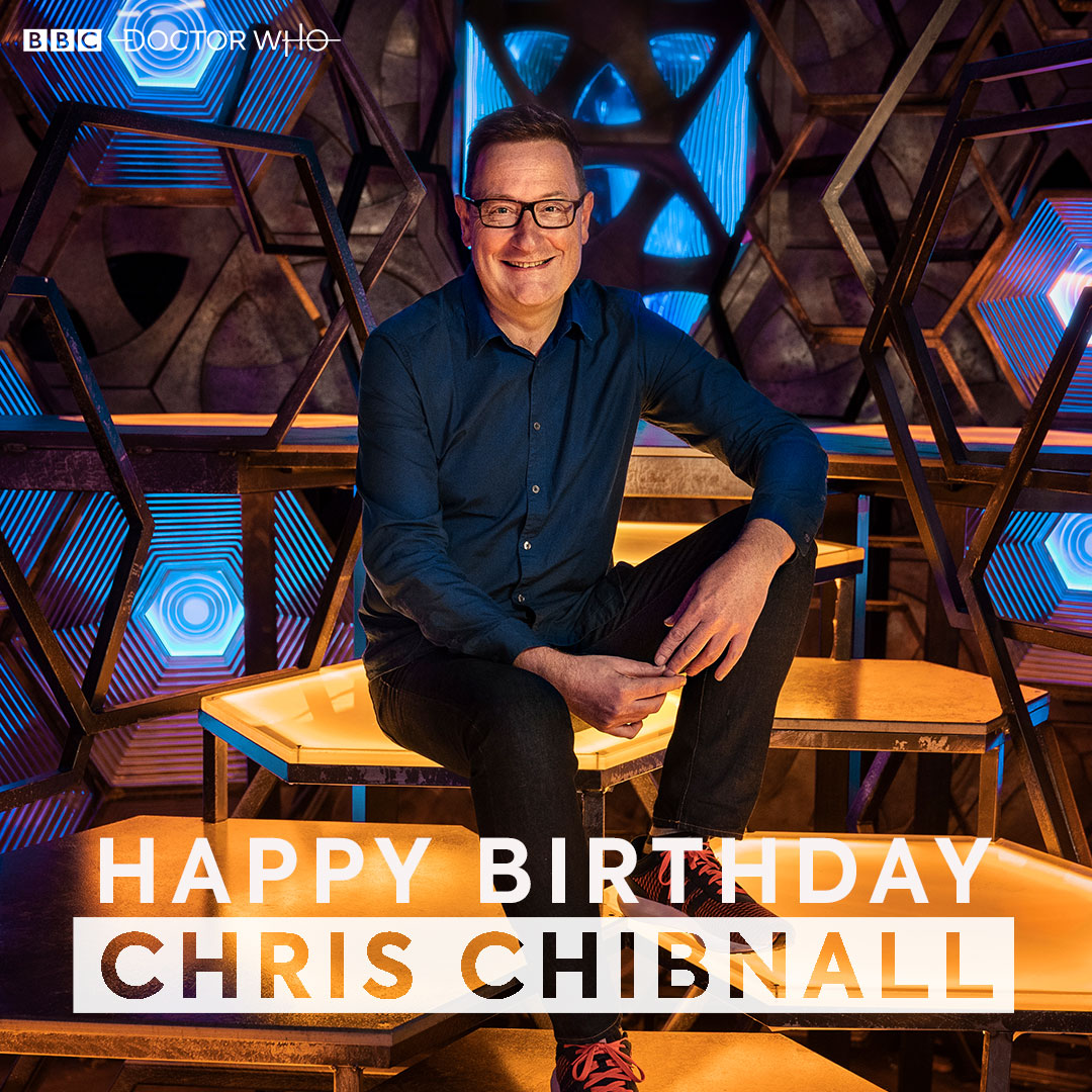 A very happy birthday to the current showrunner of #DoctorWho, Chris Chibnall 🎂