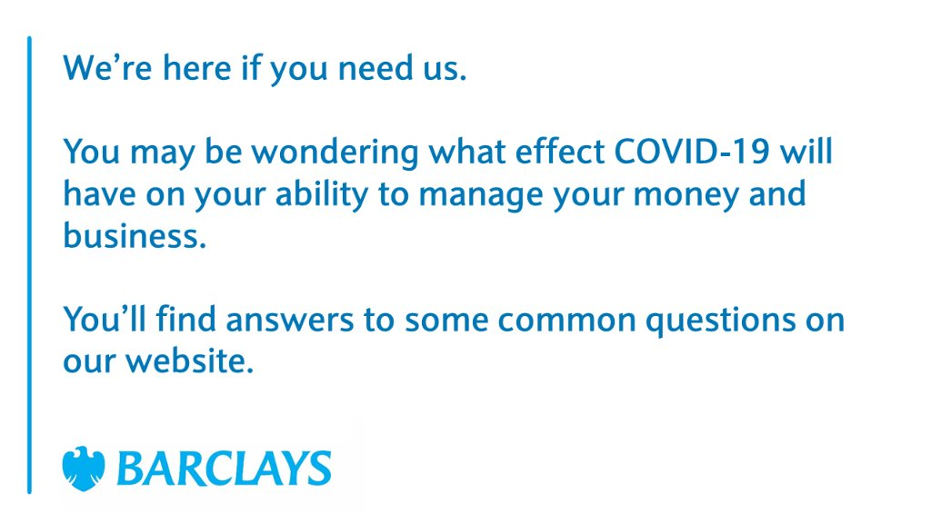 For support on how to deal with the impact of COVID-19 on your business, click here: https://barc.ly/2U7AxYF