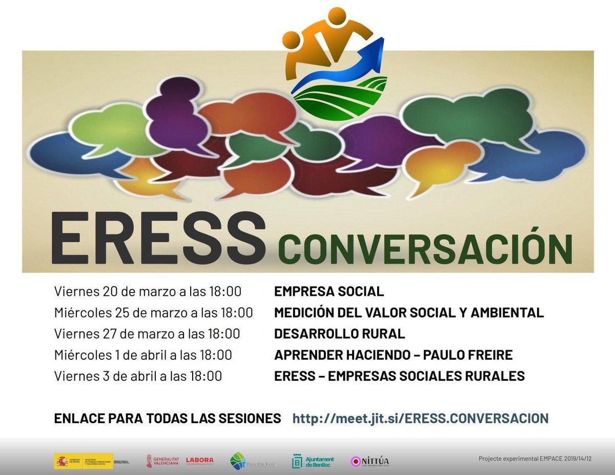 #ERESSCONVERSACION próximo encuentro el miércoles 25 de marzo a las 18:00 horas en https://t.co/ckU3lLwOLe Hablaremos de la medición del valor social y ambiental. https://t.co/qay03WZk5S
