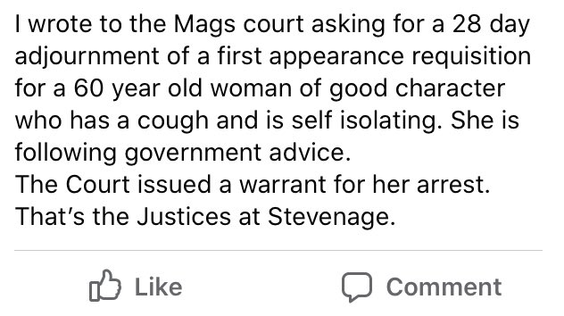 From a defence solicitor. Twitter, you know what to do.