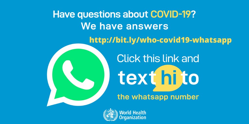 WHO Health Alert brings COVID-19 facts to billions via WhatsApp 👉bit.ly/who-covid19-wh…