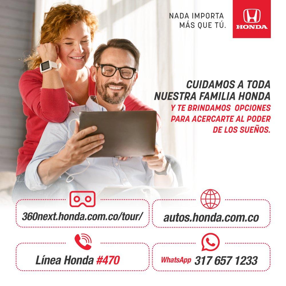 Para nosotros tu bienestar es lo más importante, por eso en Honda nuestros canales digitales estarán disponibles para ti y así podrás seguir viviendo el poder de los sueños. https://t.co/iJCH1Y1f7E