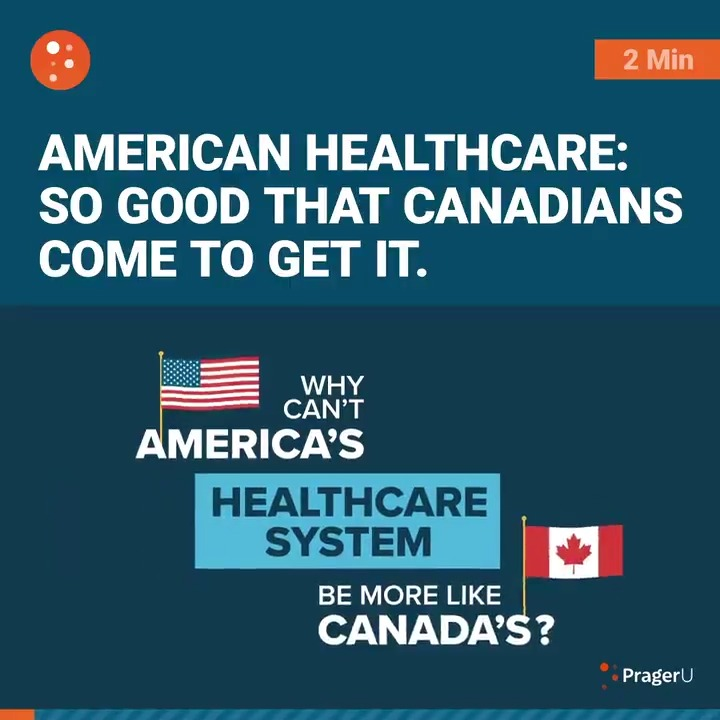 Image for the Tweet beginning: Think Canada has better healthcare?Think