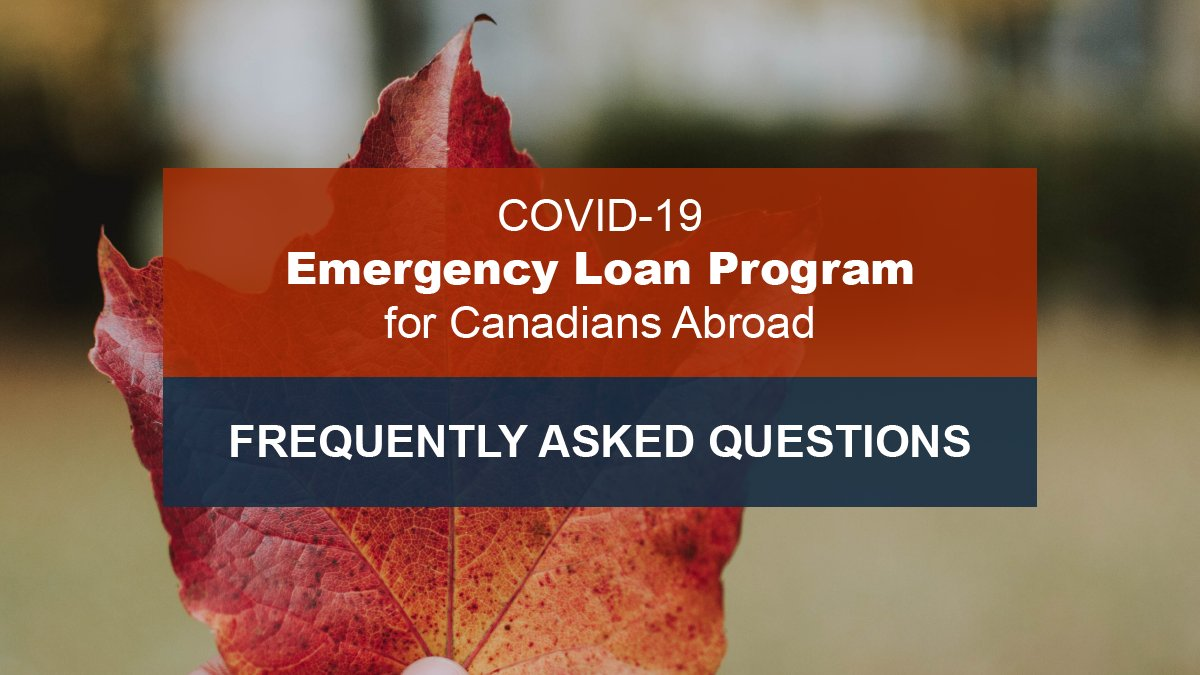 The Government of Canada has created a temporary financial assistance program to help Canadians impacted by #COVID19 return home. For more info: https://bit.ly/3a8cj6b